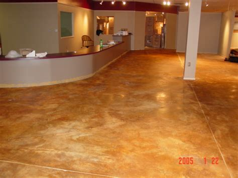 Acid Stained Floor   Furniture Store