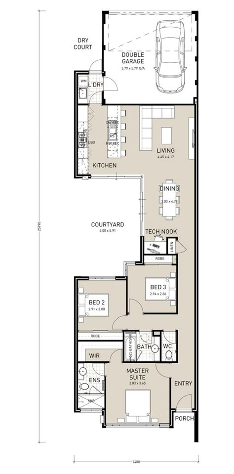 interesting floor plans narrow block floor plans interesting front house