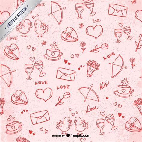 valentine pattern vector valentine s scribbles pattern vector free download