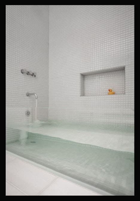 see through bathtub invisible bathtub ultra thin glass tub in rowhouse refab