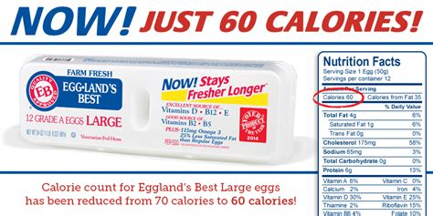 best nutrition eggland s best eggs reveals lower calorie count one large