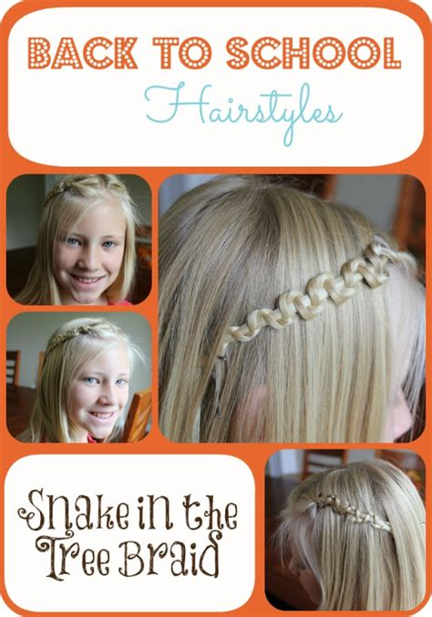 easy hairstyles for the day of high school back to school hairstyles snake in the tree braid