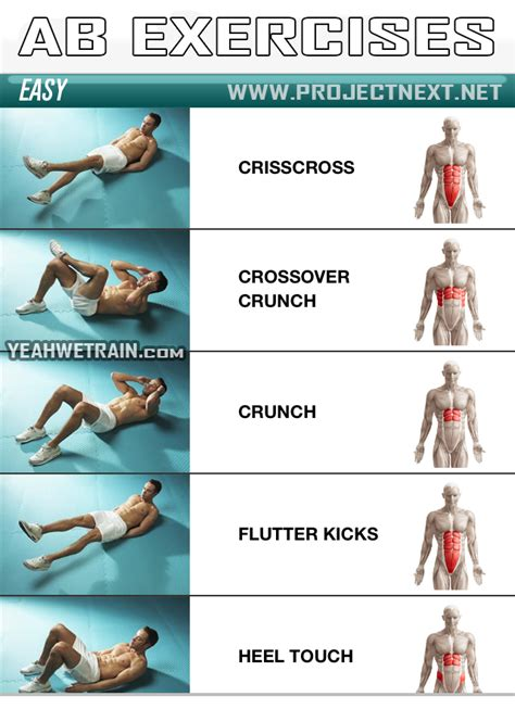 sixpack workout easy part 1 abs abdominal crunch