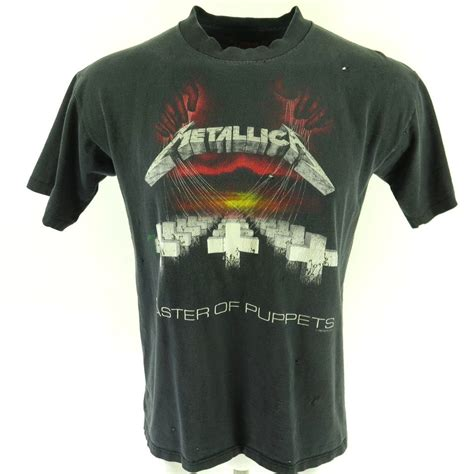T Shirt Metalica 2 vintage 80s metallica band t shirt l master of puppets