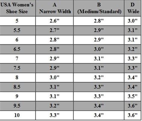 shoe size chart width and length women s shoe size chart shoe width chart usa women s