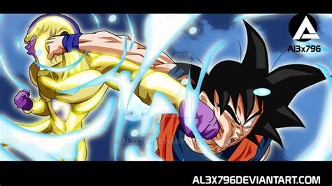 imagenes de goku golden goku vs golden frieza moonlight wallpaper by al3x796 on