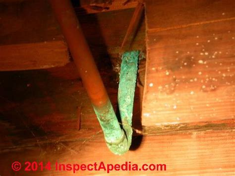 corrosion leaks in copper or steel water pipes causes of