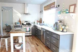 kitchen without wall cabinets little updates and fireplace plans the inspired room