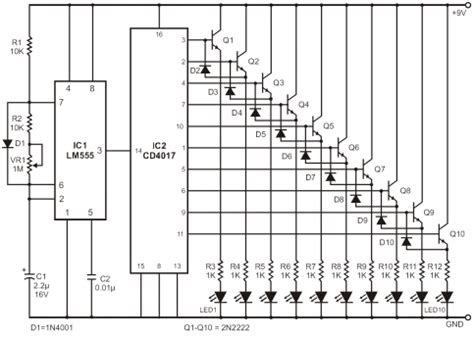 bi colour led running lights circuit diagram world running light circuit diagram pdf circuit and schematics