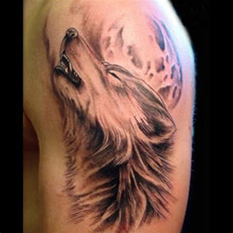 wolf face tattoo on biceps tattoos book 65 000 tattoos