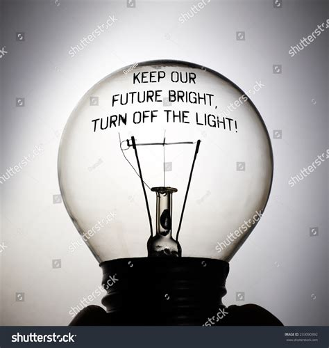 turn off light on phone silhouette of an incandescent light with the message