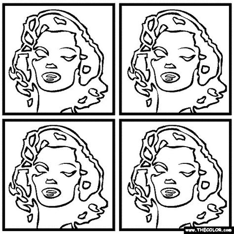 Andy Worhol S Marilyn Monroe Coloring Page Art And Marilyn Coloring Pages