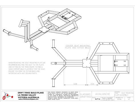 blueprints builder avalanche drift trike build plans