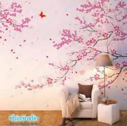 Tree Stickers For Nursery Walls cherry blossom tree wall decals with butterfly wall by