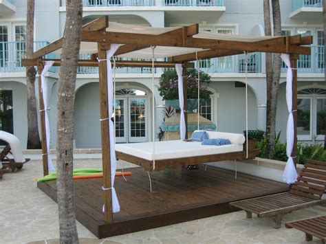 outdoor swinging bed outdoor porch swing bed