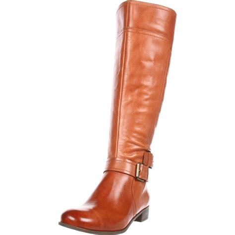 nine west nine west womens shiza wide calf kneehigh boot