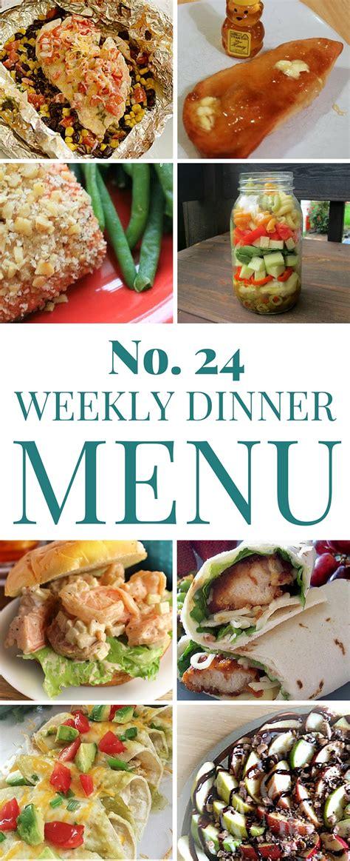 dinner menus and recipes weekly dinner menu 24 the crafty stalker