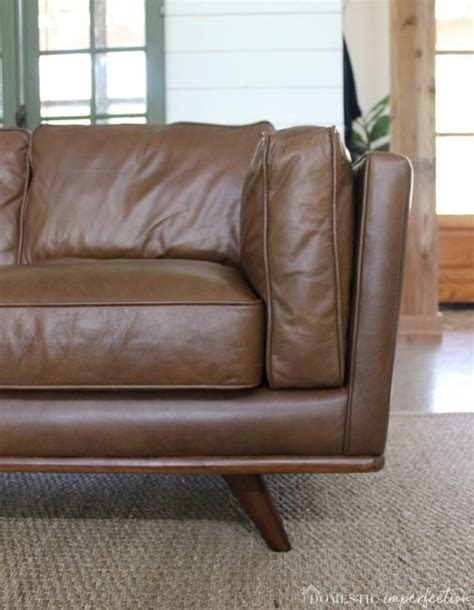 timber sofa article review my leather sectional from article aka the keeper