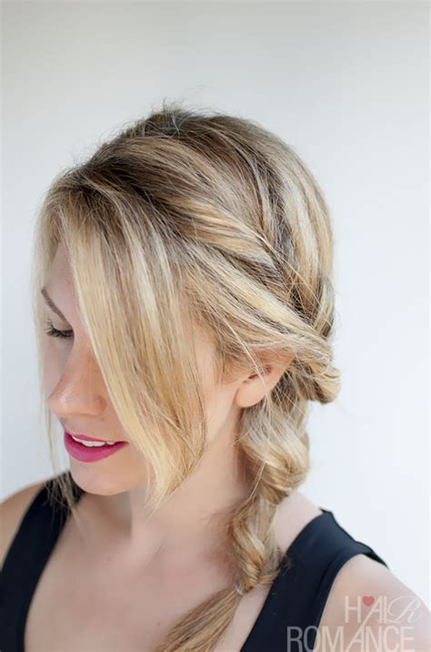 how to do ponytail hairstyles topsy tail ponytail tutorial the no braid side braid