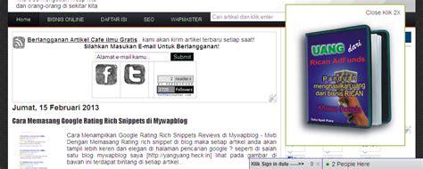 membuat iklan melayang dibawah blog cara membuat iklan melayang di sisi kanan blog blogger