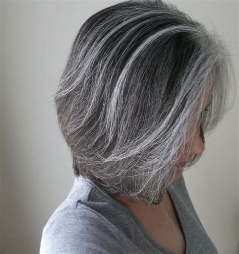 how to grow in gray hair with highlights gray with soft highlights what about the reverse of that