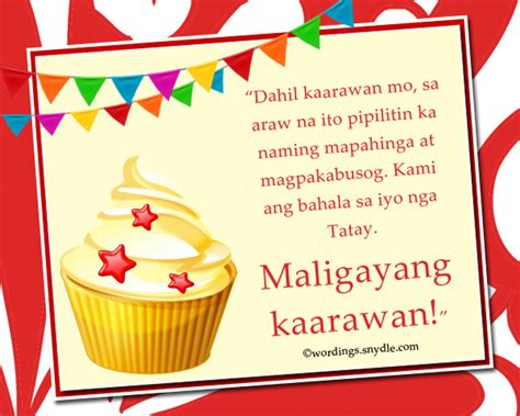 Wedding Congratulations In Tagalog by Happy Birthday Wishes In Tagalog Wordings And Messages