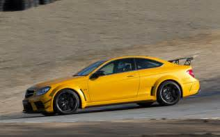 2013 mercedes c63 amg coupe black series side in