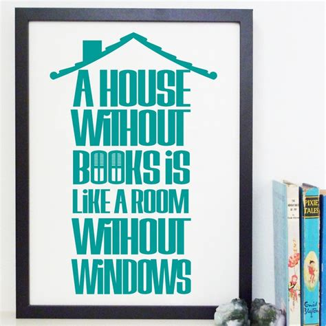 printable library quotes a house without books book quote typography library