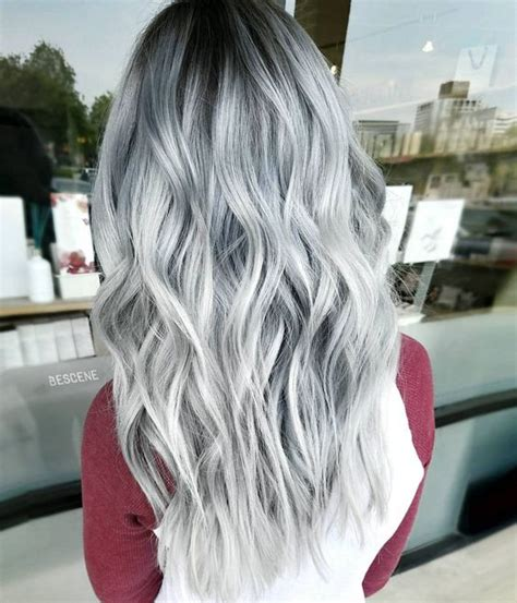 Platinum Sho Shoo Silver White Grey Ombre from the diary of a hairstylist by casey high voltage hair