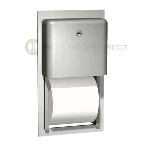 dual roll toilet tissue dispenser asi profile 9031 recessed mount stainless steel dual roll