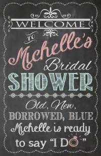 Bridal Shower Welcome Sign Template by Shabby Chic Vintage Chalkboard Welcome Sign Bridal Or Baby