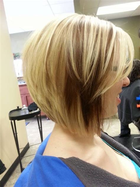 bob hairstyle with peek a boo highlights adorable short blonde bob with dark copper peek a boo