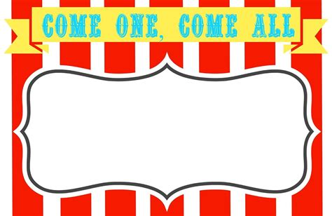 carnival template printable circus templates 14 blank circus invitations