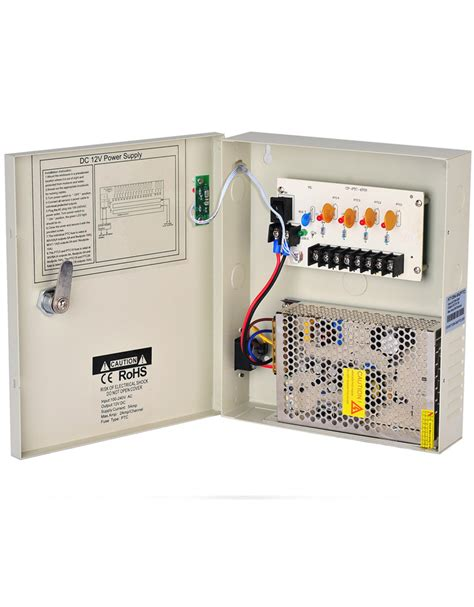 Power Suply 12v 5a Box security cctv power supply box dc 12v 5a 4 channels ptc distribution box one stand smart