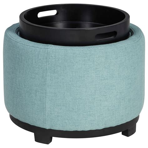 storage ottoman with reversible tray top signature design by menga ottoman with
