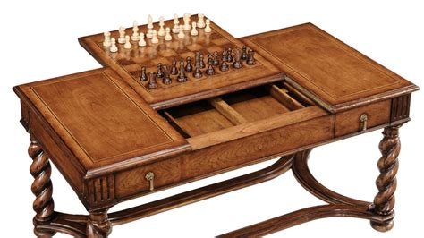 Chess Coffee Table High End Furniture Coffee Table Chess And Backgammon Pieces Included Walnut