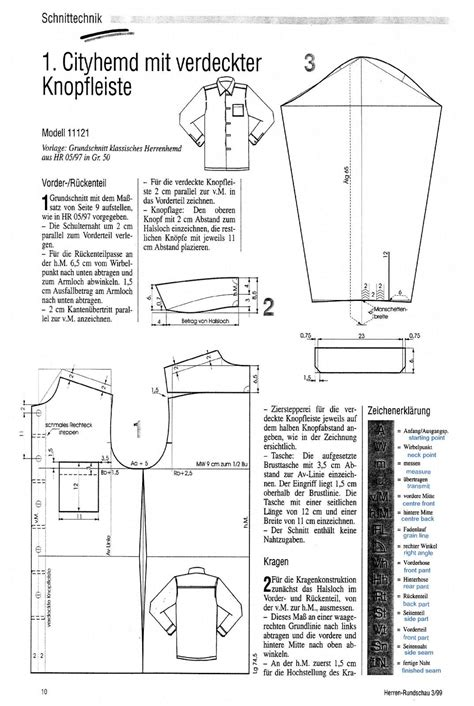 pattern making of polo shirt shirt cutting from the einheitssystem the outfitter s