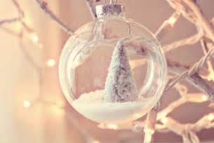 snow scene ornament