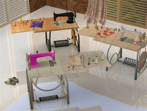 mod  sims  time sewing machine  colours