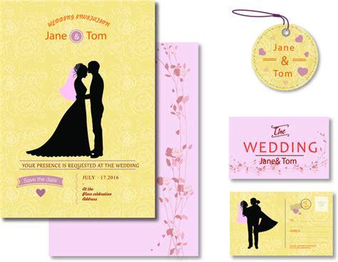 Wedding Card Design In Illustrator by Wedding Design Templates Free Vector In Adobe Illustrator