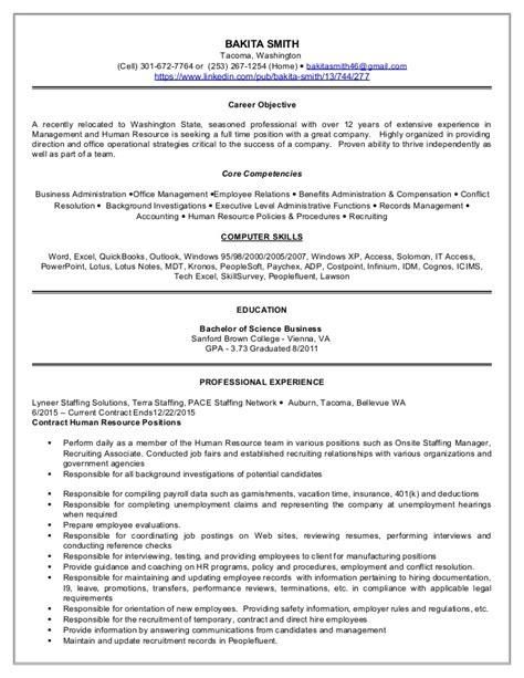 resume bakita smith