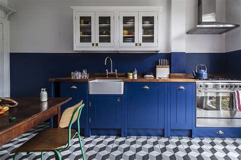 Nice Farmhouse Kitchen Portland #3: British-Standard-DIY-bright-blue-kitchen-London-1.jpg