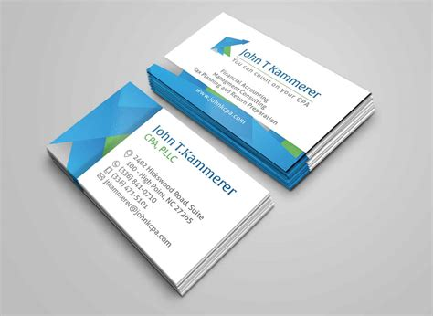 c business card template t kammerer accountant business card two sided c