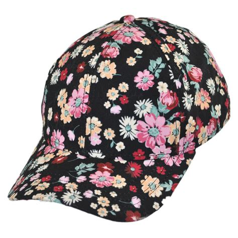 san diego hat company floral baseball cap child