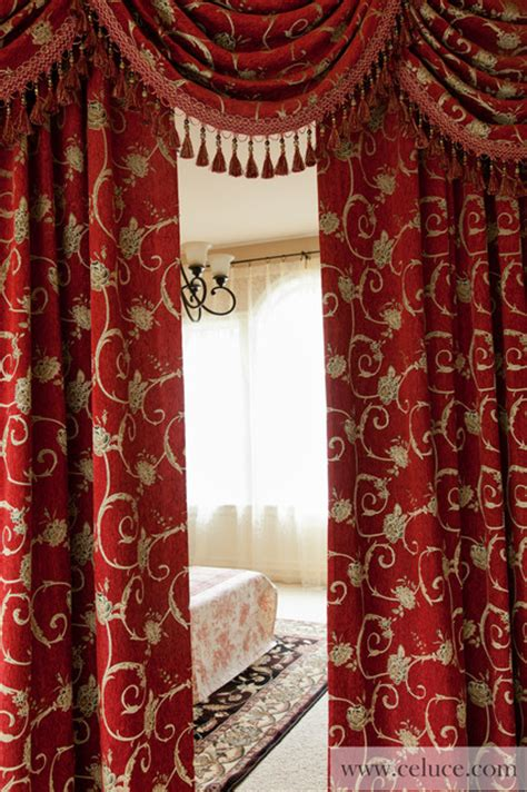 curtain swags uk quot louis xvi royal red quot elegant designer curtains with