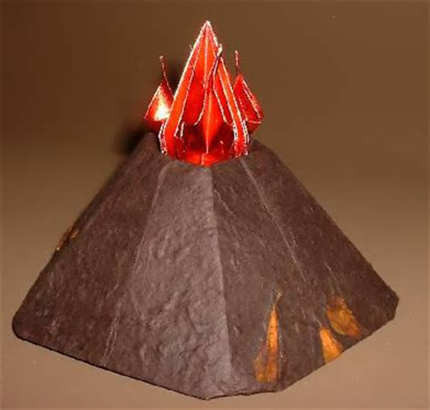 How To Make A Origami Volcano - origami volcano 99 3d easy make origami for