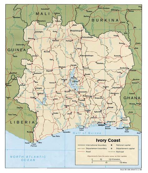 ivory coast on the map ivory coast political map ivory coast mappery
