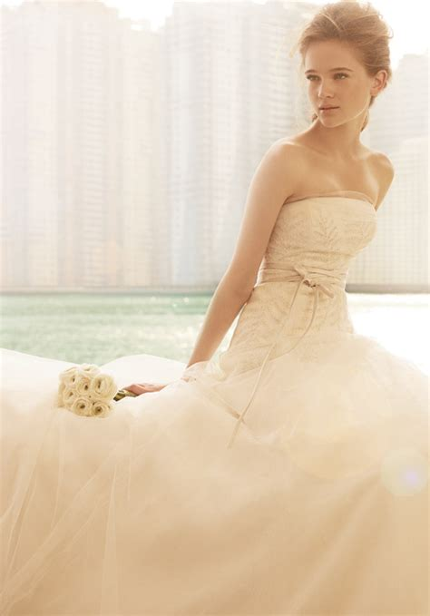 lovely white lovely white by vera wang gown for sale