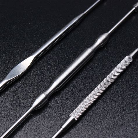 stainless steel wax stainless steel earpick wax remover curette cleaner health