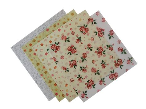 patterned craft paper patterned floral vellum paper 4 sheets craft factory